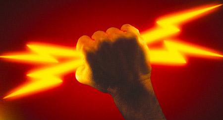 Energy revolution fist