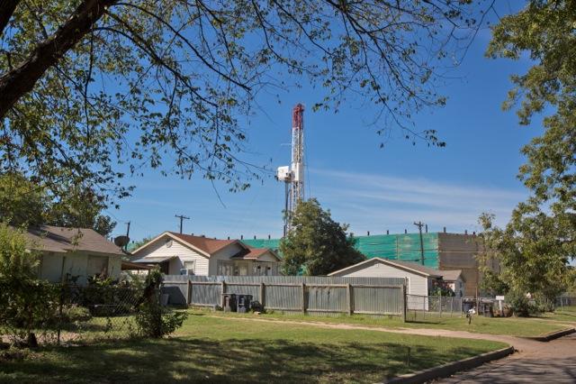 fracking in backyard
