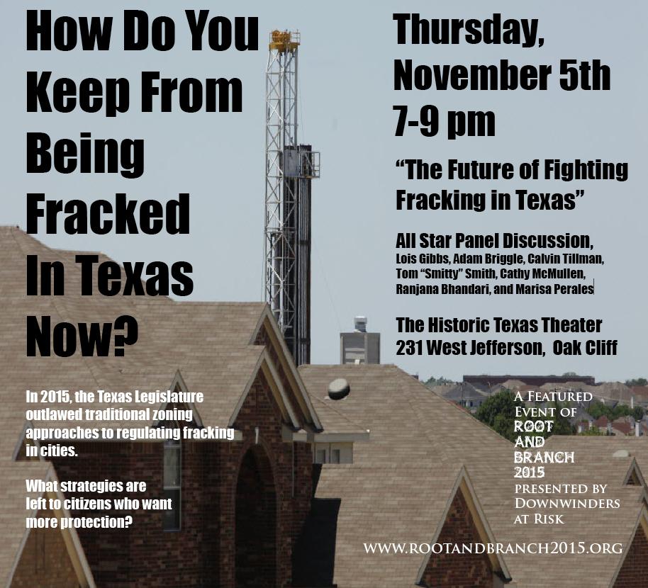 Thurs. Night Fracking Panel