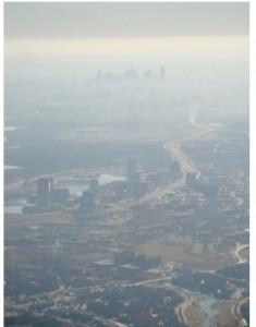 Dallas smog aerial