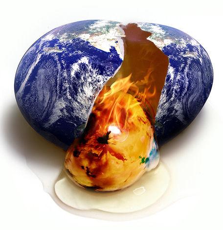 Global warming- earth frying