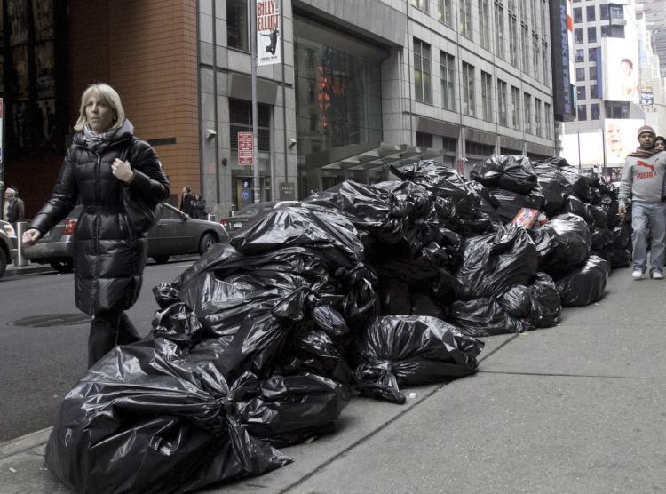 Garbage piling up