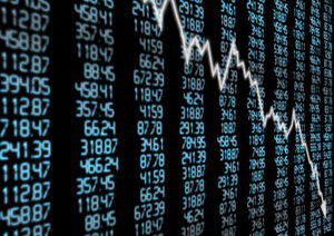 Stock topteboard decline