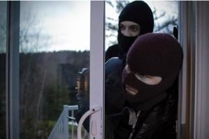 Burglers breaking in