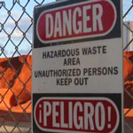 haz waste photo.sign