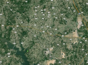 East Texas gas field -close up