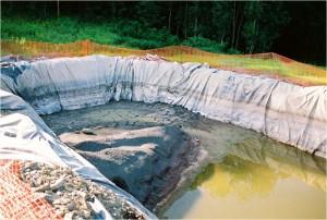 Fracking Fluid Pond