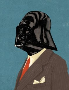 Darth Vader in a suit