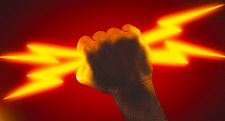 Energy revolution fist