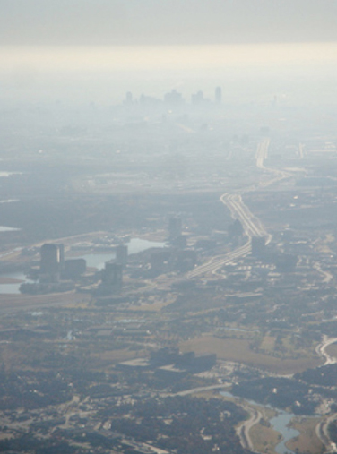 Dallas smog aerial cropped