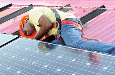 Black-man-installs-solar-panels-on-own-home