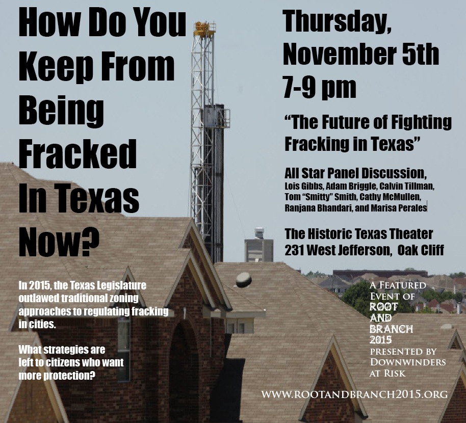 Thurs. Night Fracking Panel